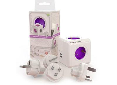 Ladrón PowerCube universal + 2 usb morado - PowerCube - Complementos - Ensueños, tiendas de descanso