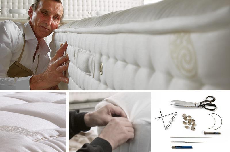Las camas Fylds' se realizarn a medida y a mano. Fabricación a medida y artesanal realizada por maestros
