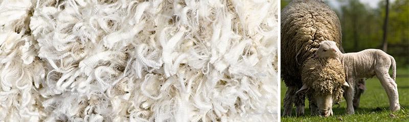 primera capa de confort del colchón está constituida por la mezcla de cuatro tipos diferentes de lana y lino