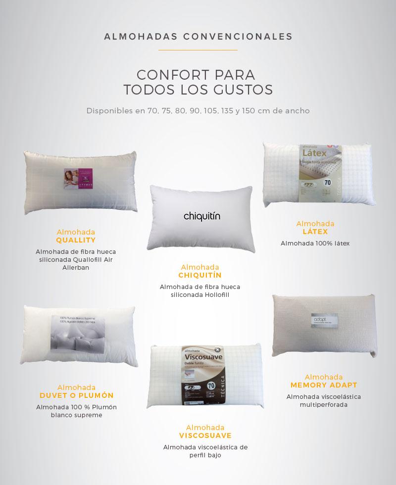 carta de almohadas convencionales de tiendas ensueños
