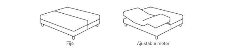Base fija y articulada para Cama Versus