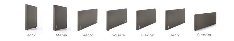 Variedad de cabeceros para los tres modelos de Cama Versus