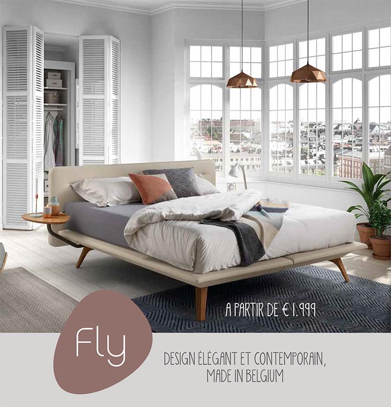 El set completo de la oferta de ENSUEÑOS, un cabecero, la cama Fly, los pies de cama y el colchón