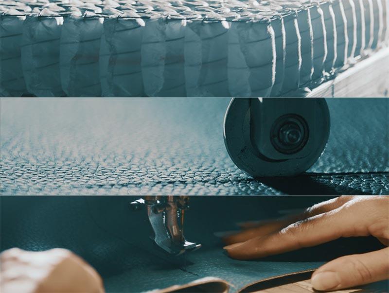 Procesos de fabricación manual de la tapicería de los colchones Velda para un descanso sostenible