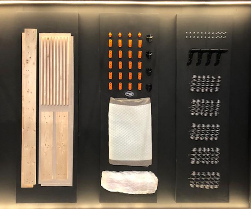 Número limitado de materiales Velda que facilitan el descanso sostenible y que son cuidadosos con el medio ambiente