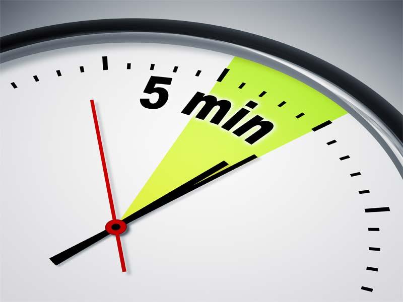 Posponer el despertador 5 minutos de manera repetida por la mañana