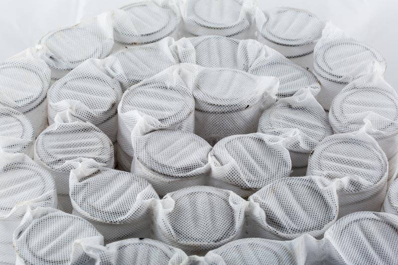Imagen de muelles ensacdos que crean cuatro niveles de firmeza