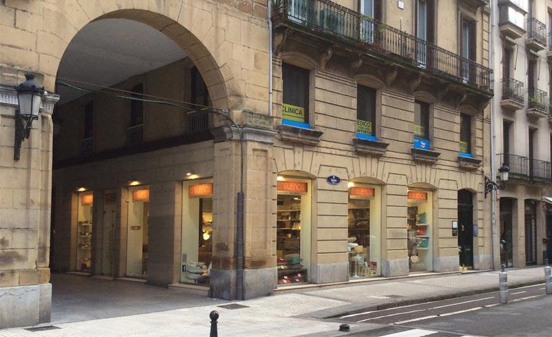 Exterior de la tienda ENSUEÑOS San Sebastián