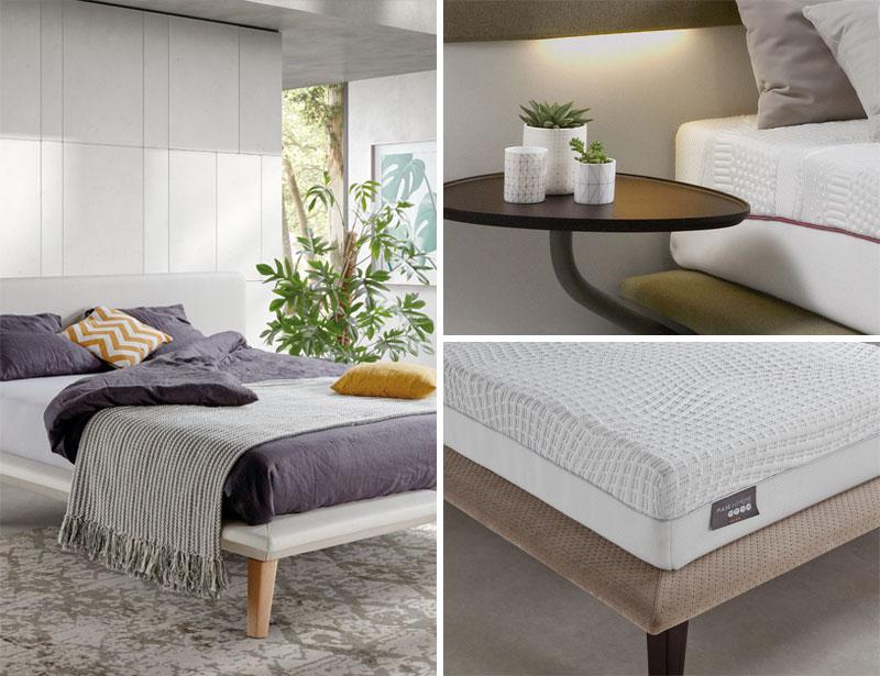Detalles cama fly. Mesa y estructura de la cama