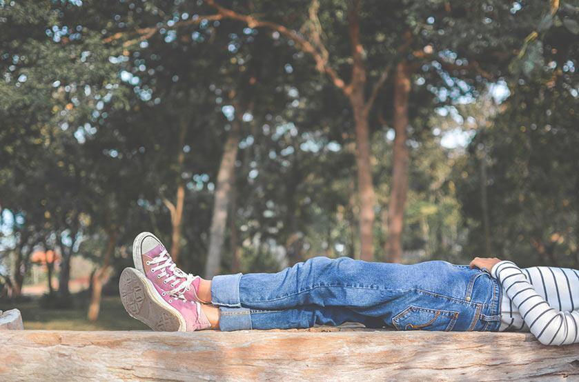Imagen de una persona descansando
