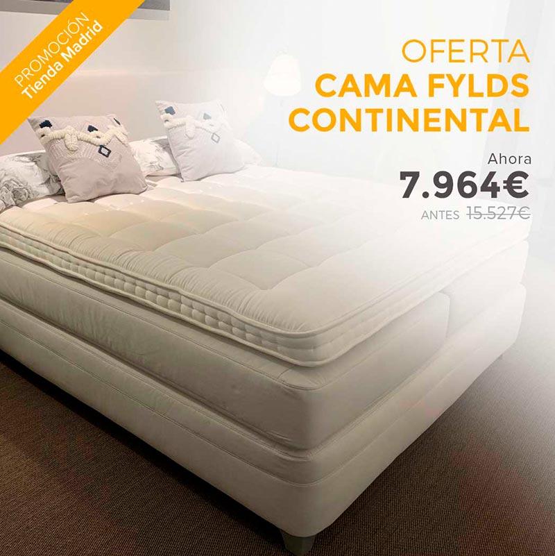 Descuento de la cama Flyds Continental disponible en las tiendas de Ensueños