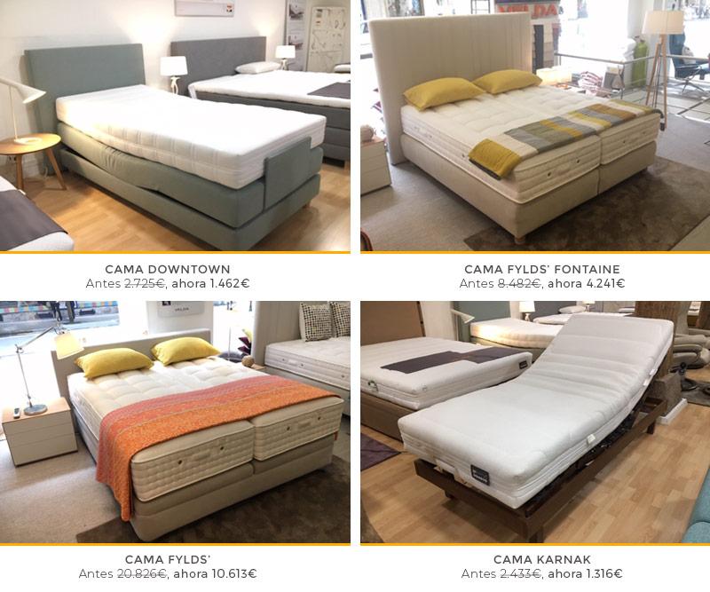 Conjunto de las camas que hay en promoción en las tiendas de Ensueños