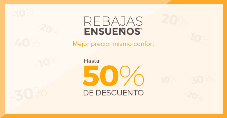 Rebajas de hasta el 50% en las tiendas de Ensueños