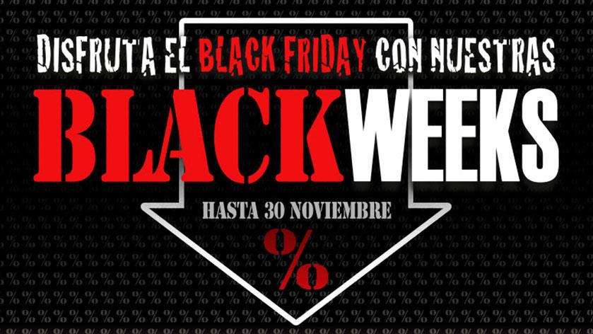 Imagen de la campaña Black Weeks de las tiendas de Ensueños