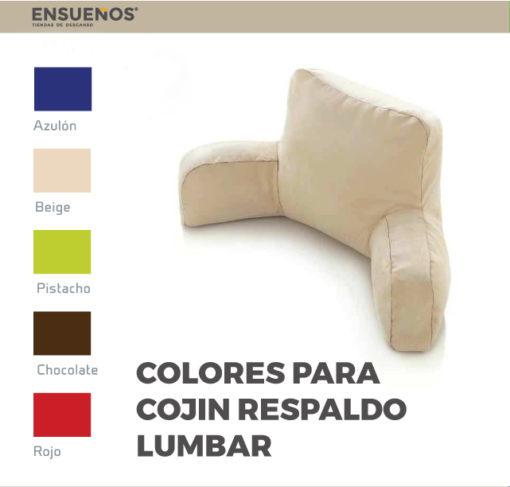 Colores cojín lumbar
