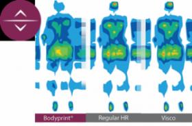Control de la presión en el colchón Bodyprint Pocket